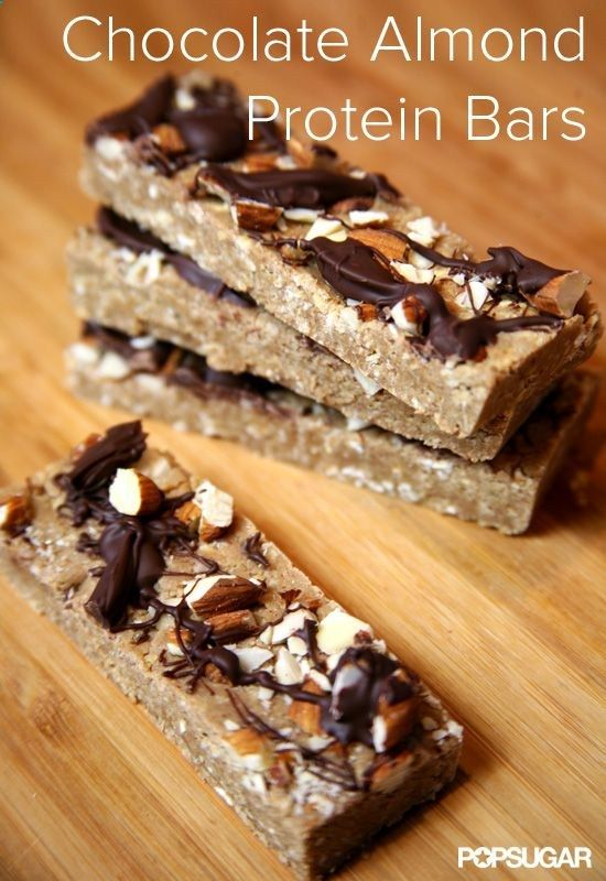 Chocolate Almond Protein Bars - Food by Marry Anne   See more about chocolate almonds, protein bars and protein.
