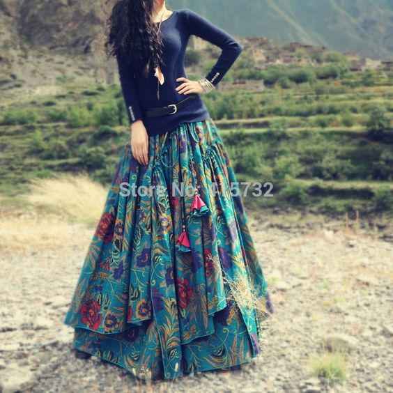 Cheap Skirts on Sale at Bargain Price, Buy Quality dress skirts women, skirt chain, dress types from China dress skirts women Suppliers at Aliexpress.com:1,Style:Bohemian 2,length:long floor length skirt 3,Brand Name:boshow 4,Silhouette:A-Line 5,Color Style:Natural Color