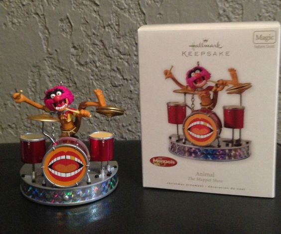 2010 HALLMARK ANIMAL DRUM SOLO THE MUPPET SHOW XMAS ORNAMENT SOUND NIB HTF