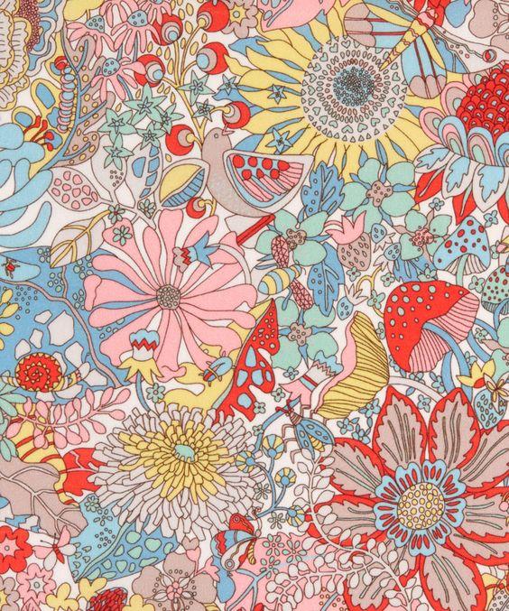 Liberty Art Fabrics Elodie Bea Tana Lawn Cotton | Fabric | Liberty.co.uk