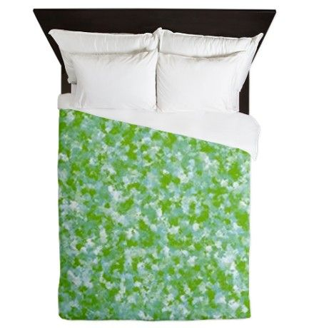 Impressionist in Green Queen Duvet on CafePress.com