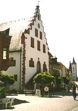 Karlstadt am Main, Germany - Check Quaint Bavarian town. St. Johannis Church was built in the 16th century. About 40 minute drive west of Schweinfurt and 25 km north of Würzburg.