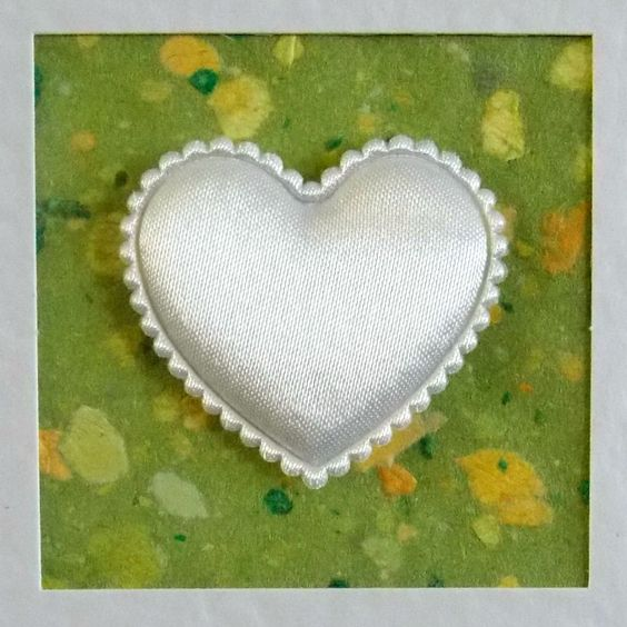I Love You Card, blank, engagement, anniversary, birthday, wedding, white heart on green, contemporary, modern, with envelope, no message - pinned by pin4etsy.com