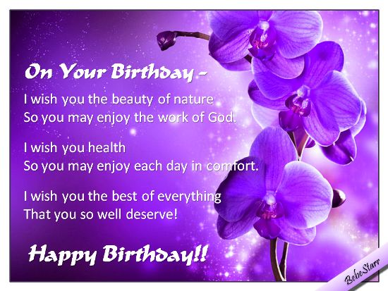 A Christian Birthday Ecard With A Wish For Joy See All My Ecards Happy Birthday Religious Wishes