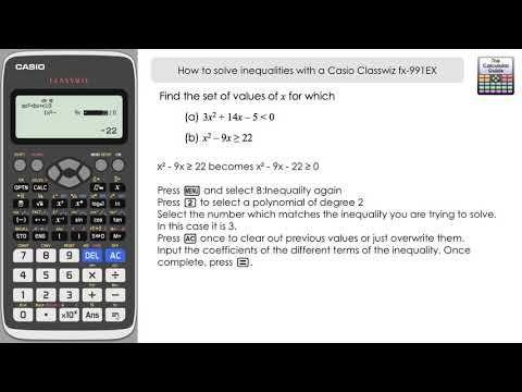 How To Solve Inequalities With A Casio Classwiz fx-991EX Calculator  Including DiscriminantThe Calculator Guide | Quadratics, Calculator,  Graphing calculator