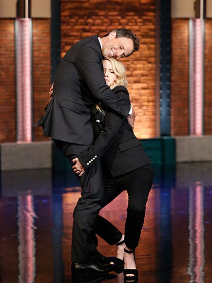 Star Tracks: Wednesday, July 13, 2016 | GREET & GRAB | While stopping by Late Night with Seth Meyers on Tuesday in N.Y.C., Ghostbusters's Kate McKinnon gives the talk show host a very special greeting.
