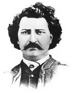 Louis Riel, Metisleader of the Red River Rebellion and Northwest Rebellion in Manitoba and Saskatchewan in the late 1800s. He was exiled from Canada and still managed to find time to helpfound the province ofManitoba. Also, he was convicted of treason and was executed in1885 for standing against theEastern-run government to support the rights of indiginous peoples in the West.