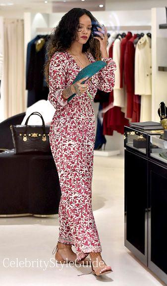 Rihanna style maxi dress