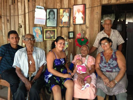 AMAZING 7 GENERATIONS IN THE NICOYA BLUE ZONE!  This photo of 107-year old and the generations between her and her great, great, great, great granddaughter, Angeli.  --by way of our great friend Jorge Vindas