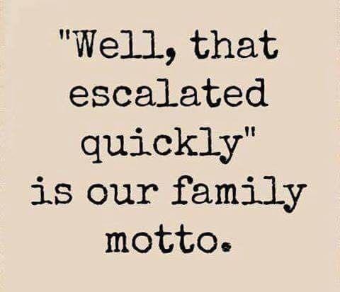 family motto | Funny quotes, Family humor, Family motto