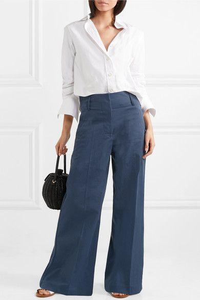 By Malene Birger | Kekoa crepe wide-leg pants | NET-A-PORTER.COM