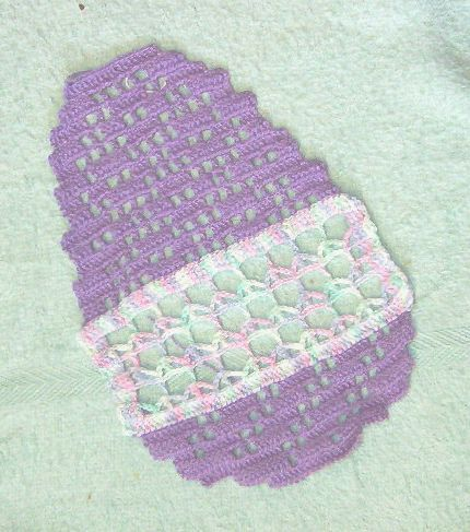 Easter Egg Doily - free crochet pattern