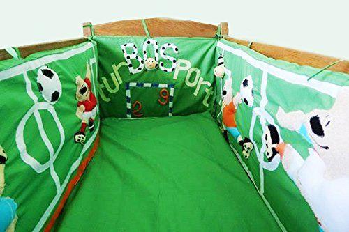Handmade Nursery Handmade Crib Bedsheet Bumpers Soccer Fleece Toy Linen Baby…