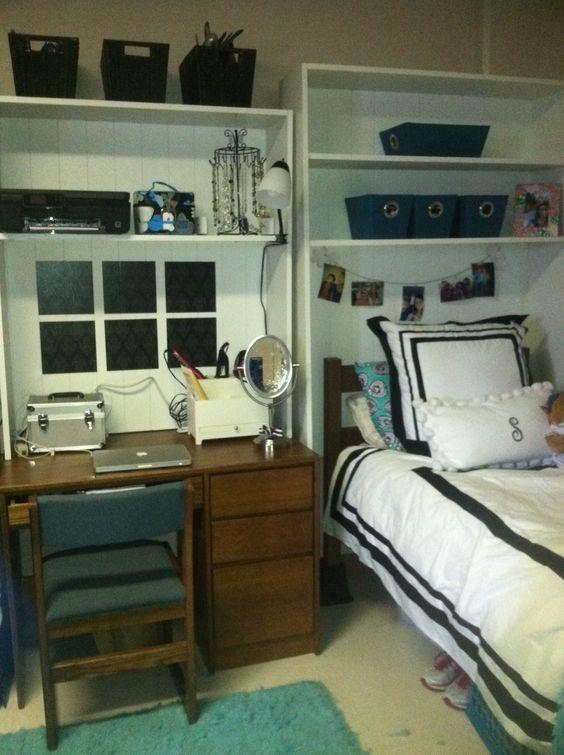 Decorating Ideas > Dorm Storage, Bed Shelves And Desk Hutch On Pinterest ~ 233542_Dorm Room Shelf Ideas