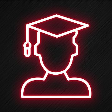 Male Student Icon In Neon Style Student Icons Style Icons Male Icons Png Transparent Clipart Image And Psd File For Free Download Wallpaper Iphone Neon Person Icon Neon