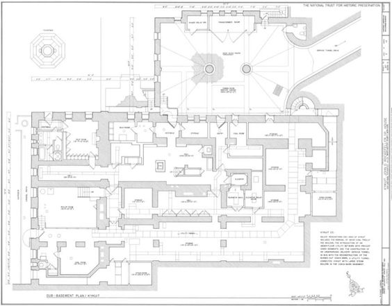 Kykuit, plan of the sub-basement