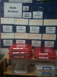 """Math stations, etc.  Lots of ideas on this """"Math Coach"""" website. Read this blog!"""