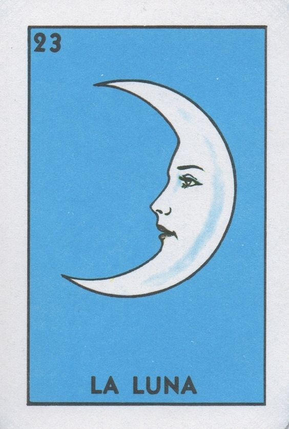 La Luna (The Moon) | Lone Quixote #loteria #MexicanBingo #art