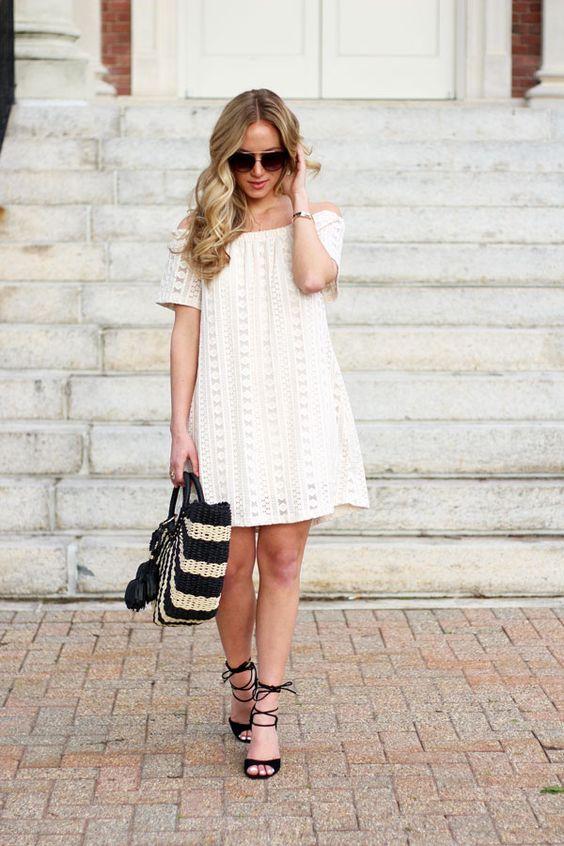 Style // Crochet Off Shoulder Dress - Style Cusp, Marissa Meade. ♡ SL