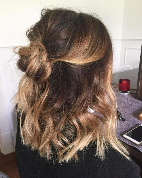Relaxed Boho Look Hairstyle Medium Length Hair Styles Hair Styles Hair Lengths