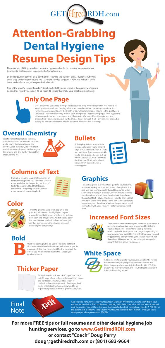 Attention Grabbing Dental Hygiene Resume Design Tips Www   Dental School  Resume  Resume Design Tips