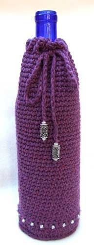 Free Crochet Pattern For Wine Bag : crochet wine cozy1 25 Patterns I Want to Crochet for Blog ...