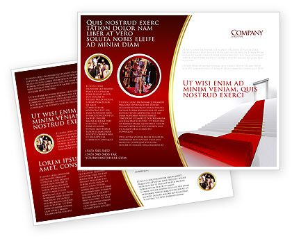 Red Carpet Brochure Template Design and Layout, Download Now - blank brochure templates