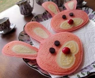 bunny pancakes: Easter Breakfast, Food Ideas, Fun Ideas Recipes, Bunny Pancakes, Fun Kids Recipes, Kiddo Recipes, Easter Ideas
