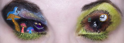 Alice in Wonderland eyelids