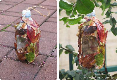 mami chips & crafts: Casetta per gli uccellini da bottiglia di plastica
