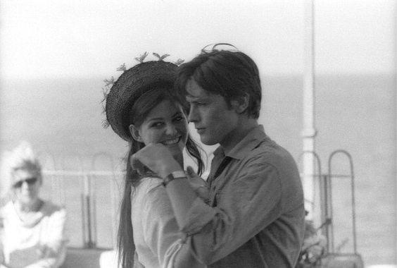 Alain Delon and Claudia Cardinale