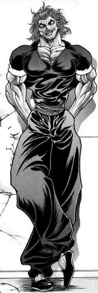 格闘服を着て立っている範馬勇次郎の刃牙の画像・壁紙