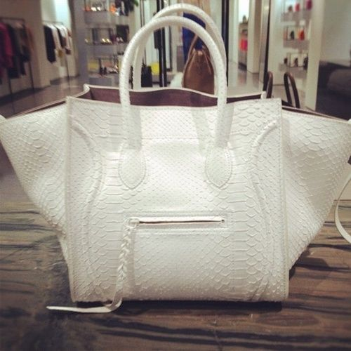 celine classic bag price - White croc-stamped Celine Phantom | Arm kandy | Pinterest | Celine ...