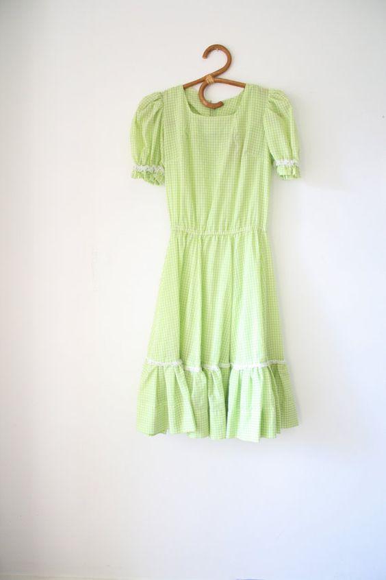 50er Jahre karierte Kleid 1950er Jahre von LilyAndPaigeVintage
