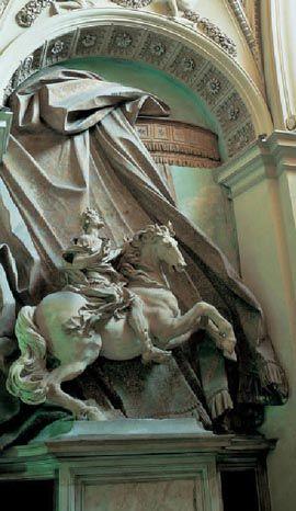 Gian Lorenzo Bernini. Estatua ecuestre de Constantino, 1668. Scala Regia, vaticano, Roma.