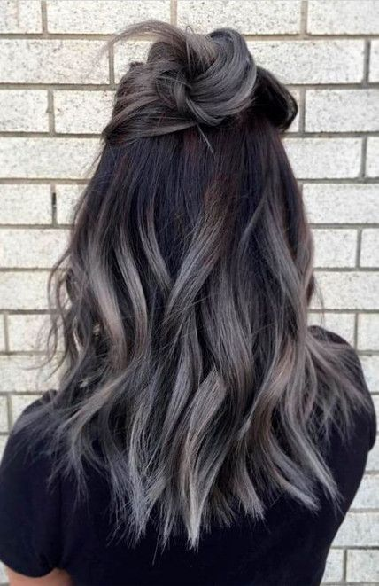 63 Trendy Hair Color Ideas For Brunettes For Teens Balayage Hair Styles Grey Ombre Hair Ombre Hair