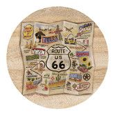 Found it at Wayfair - Route 66 Map Coaster  $19.76