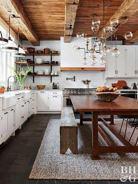 From rustic to vintage- bring warm, welcoming style to your home with these inspiring country kitchen ideas! #farmhouse #kitchen #decor
