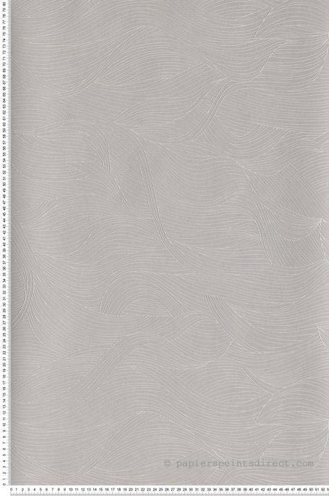 Papier Peint Vagues Alula Gris Perle Blossom De Casamance Ref