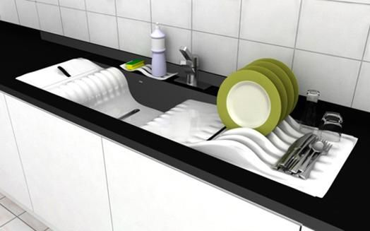 Unusual kitchen sinks and attachments adding unique for Quirky modern kitchen