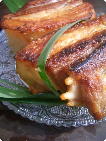 les cuisines de garance: poitrine de porc fermier grillée à la