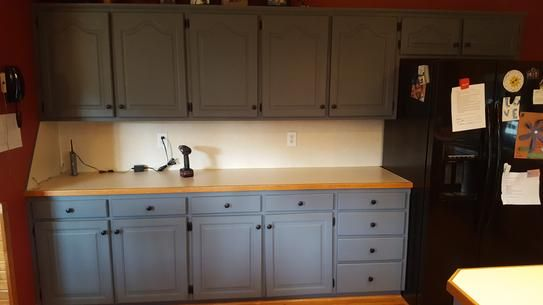 Beyond Paint 1 Qt Pewter Furniture Cabinets Countertops And More Multi Surface All In One Interior Exterior Refinishing Paint Bp08 The Home Depot Cabinet Beyond Paint Refinishing Furniture
