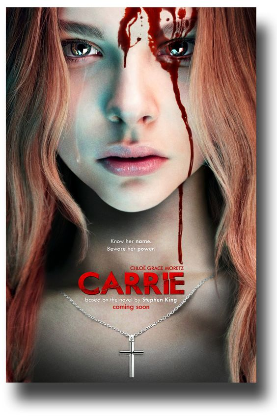A reimagining of the classic horror tale about Carrie White (Chloë Grace Moretz), a shy girl outcast by her peers and sheltered by her deeply religious mother (Julianne Moore), who unleashes telekinetic terror on her small town after being pushed too far at her senior prom. Based on the best-selling novel by Stephen King, Carrie is directed by Kimberly Peirce with a screenplay by Lawrence D. Cohen and Roberto Aguirre-Sacasa.
