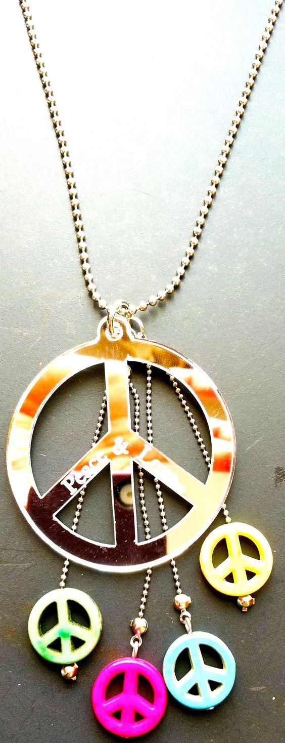 Mandala ⊰❁⊱ Colgante ☮✌~Paz~✌☮ ❤~ AMOR ~❤
