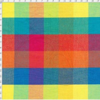 Tecido Fio Tinto para Patchwork - Vichy Cor 16005 (0,50x1,40)  100% Algodão - 50cm de comprimento - 1,40m de largura   Cada unidade refere-se a um pedaço de 50cm de comprimento por 1,40m de largura. Para adquirir 1 metro, selecione 2 unidades.   No Tecido Fio Tinto, é o próprio fio quem recebe o tingimento, antes mesmo de ser tecido. Assim, as telas são elaboradas com os fios previamente tingidos e de acordo com a disposição destes fios que se formam diferentes padronagens, como listras, ...