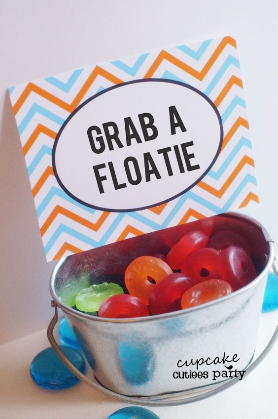 Cupcake Cutiees: Beach Party - Pool Party Food Ideas- PARTY Store. Cute idea also, licorice as pool noodles
