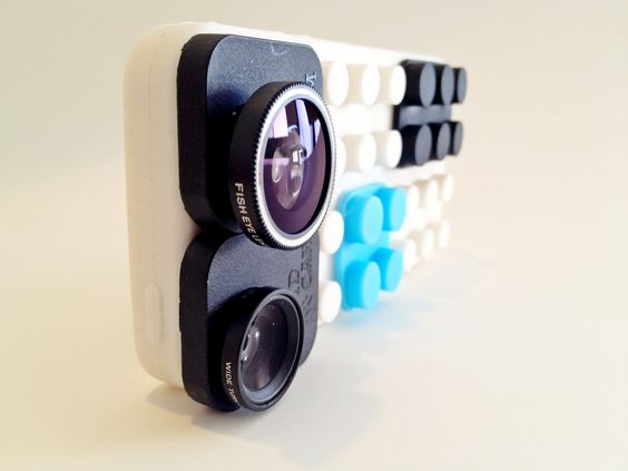 White SquidCam case + 3 lens system (fisheye, wide angle and macro lenses) for the iPhone 4, 4s, and 5. -- $49.95 Shop www.squidc.am