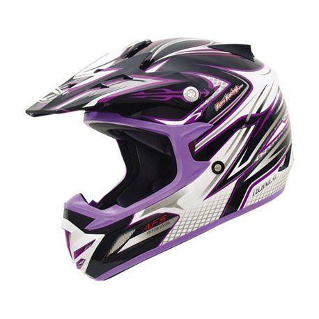 Casco MT MX-2 Technical Black Purple Infantil