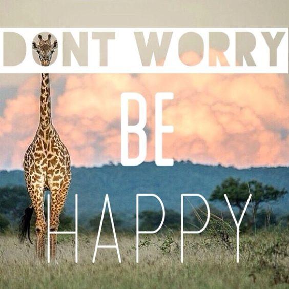 Don't worry, be happy! #happyquotes