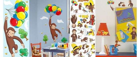 Curious George Room Package   Wall Sticker Outlet | Bathroom | Pinterest